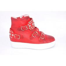 Feliz Jardin牛皮圆头板鞋F54500301