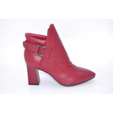 Feliz Jardin牛皮粗跟尖头6寸短靴F57202101