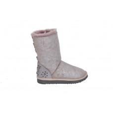 MOU镶钻羊猄雪地靴
